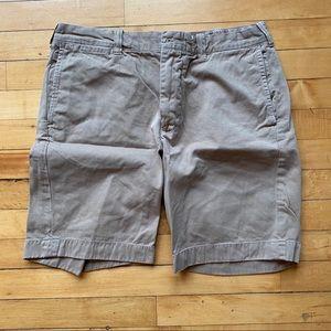 "J Crew 9"" inseam Stanton khaki shorts"